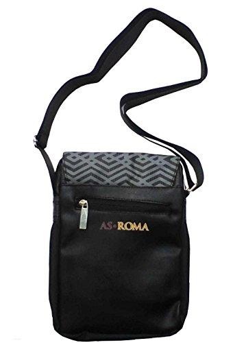 AS ROMA 1927 ORIGINALE BORSA BORSELLO TRACOLLA BLACK 16613