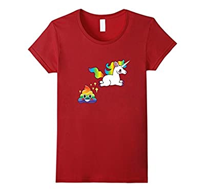 Cute Emoji Unicorn Poop Funny Rainbow Sparkle Poo Hot Shirt