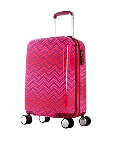 T Line Ri 21-inch Pink Virgin Polypropylene Carry-On Spinner with TSA Lock by INNODESIGN