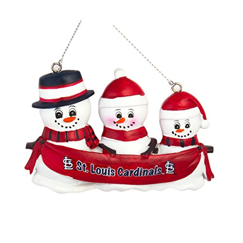 MLB Baseball DIY Personalized Christmas Ornament St.Louis Cardinals 2-3-4-5 Head Family Team Ornament Do it yourself (3 Head) - Mlb Christmas Ornaments