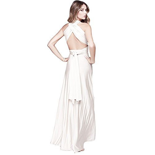 JET-BOND Night Dress Multi-Way Wrap Camisoles Halter Floor Long Dress High Elasticity FS41 (L, -