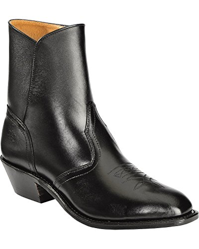Bottes américaines - santiags: bottes country BO-1114-75-EEE (pied fort) - Homme - Noir