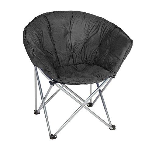 Black Faux Suede Club Chair (Eclipse Club Chair)