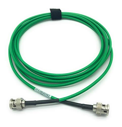50ft AV-Cables 3G/6G HD SDI Mini RG59 Cable, BNC-BNC Belden 1855A Cable- Green