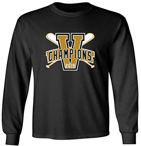 College World Tee Series - Long Sleeve Black Vanderbilt 2019 Champions T-Shirt Adult