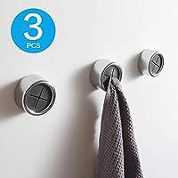 KAIYING Kitchen Towel Hooks Round Self Adhesive Dish Towel Holder Wall Mount Hand Towel Hook Tea Towel Rack Hanger for...