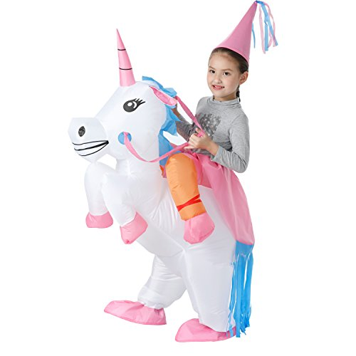 YEAHBEER Inflatable Costume Dinosaur Costumes Unicorn Cosplay Costumes Halloween Costume Costumes (Unicorn Kids)]()