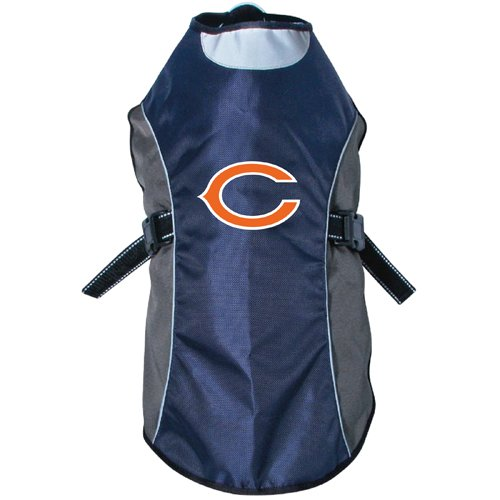 Custom Mascot Costumes Chicago (NFL Chicago Bears Hunter Reflective Pet Jacket, Large, Black or Navy)