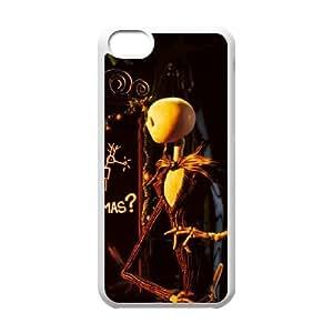 G6U35 Jack Skellington E1R5TW funda iPhone funda caso 5c teléfono celular de cubierta AH8PQO5EG blanco