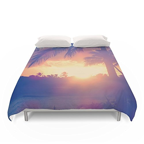 Society6 Hawaii Sunset Palm Tree Duvet Covers King: 104'' x 88'' by Society6