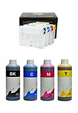 4 Cartuchos Recargables Serie GC31 para impresora Ricoh + 4L ...