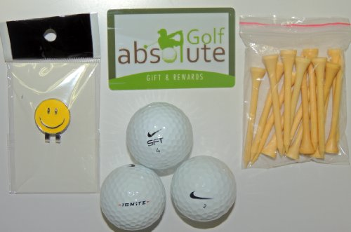48 Nike Mixed Recycled Golf Balls Grade B with Free Magnetic Smiley Face Golf Ball Marker/Hat Clip ($6.99 Retail Value)