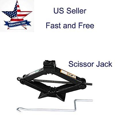 Universal Camper Scissor Jack Jacks 2 Ton with Handle Chromed Crank for Car Van SUV UTV Trailer
