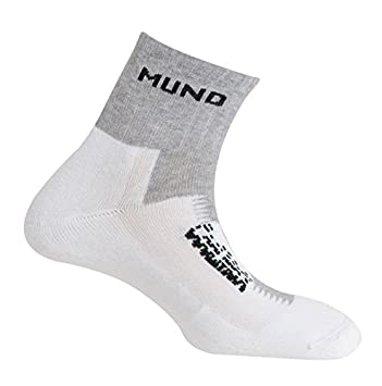 MUND Running Coolmax Calcetines, Mujer, Gris, 34-37