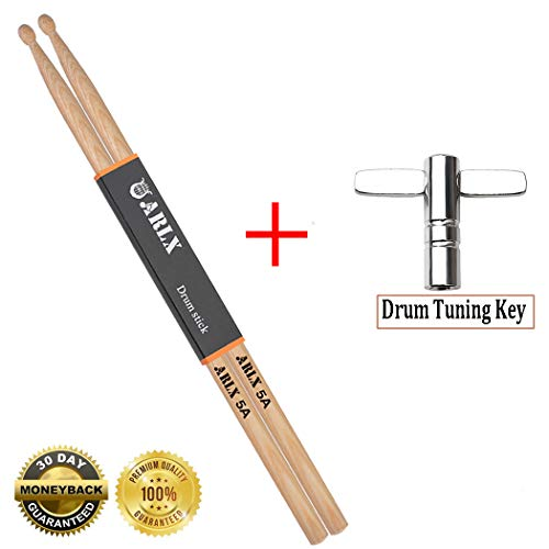 - Drum Stick 5A Wood Tip Drum Sticks 5a Classic Hickory Drumstick (1 Pair Hickory)