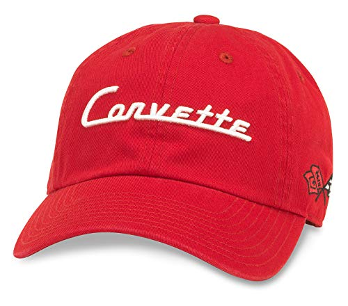 (American Needle Ballpark Corvette Baseball Dad Hat (GM-1903A-RED) )