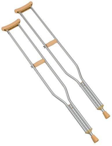 Carex Push Button Aluminum Crutch, Tall by Carex Health Brands ()
