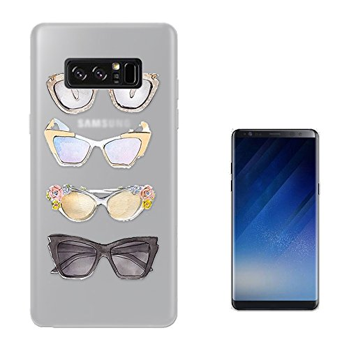 c00329 - Sunglasses Illustration Art Designer Fashion Love Shopping Ladies Girls SAMSUNG Galaxy NOTE 8 CASE Gel Silicone All Edges Protection Case - Woman Illustration Shopping