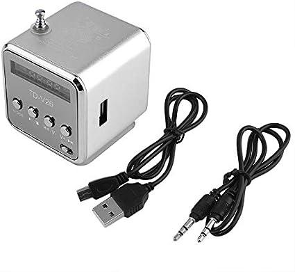 EisEyen Mini USB Bass Altavoz Music Player Port/átil SD//TF FM Radio Musikspieler