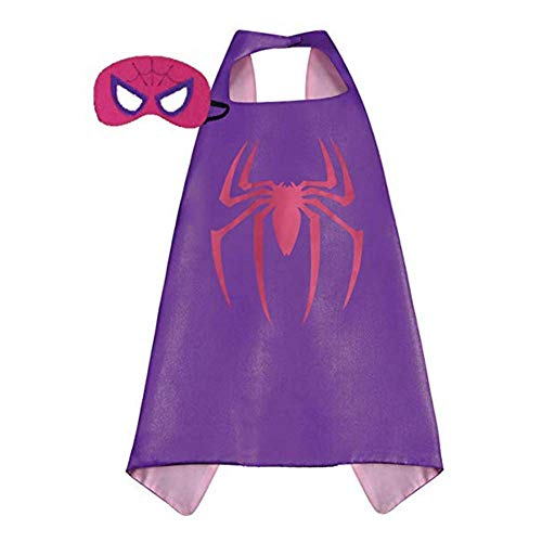 Kids Superhero Dress Up Costumes Capes and Masks (Spider Girl)