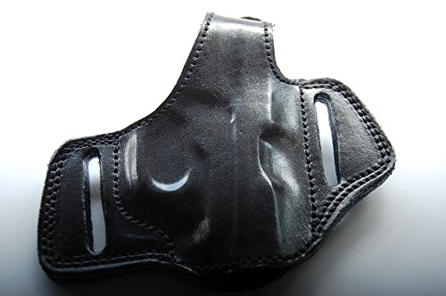 Mustang Leather - cal38 Handcrafted Leather Belt Holster for Colt Mustang Pocketlite 380 (R.H) Black