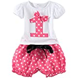 Mud Kingdom Polka Dot Toddler Girl's Birthday Clothing Set