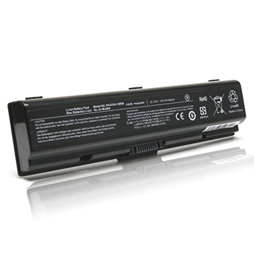 DJW 10.8V 48Wh Laptop PA3727U-1BRS Battery for Toshiba Satellite PA3533U-1BRS PA3535U-1BRS PABAS174 PABAS098 PA3534-1BRS PABAS097,Fits for Toshiba A350 L300 A200 M200 L555 L550 (L500 Series Battery)