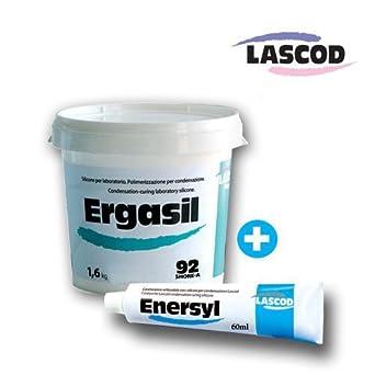 Ergasil Dental Lab Putty 1 6KG Container & one 60ML catalyst Paste