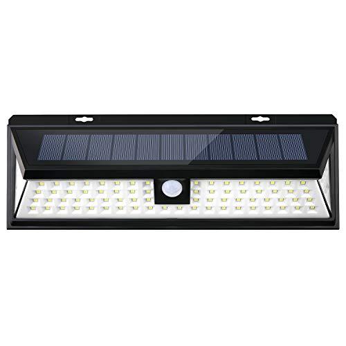 Door Garage Ideal (Jsunck Motion Sensor Light Outdoor, 80 LED Wireless Solar Light, 270° Wide Angle, IP65 Waterproof, Ideal for Front Door, Garage, Hallway, Back Yard)