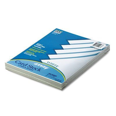 Pacon Products - Pacon - Array Card Stock, 65lb, White, Letter, 100 Sheets/Pack - Sold As 1 Pack - For report covers, flyers, postcards and art projects. - Use in printers, copiers or typewriters. - Acid-free for archival quality.