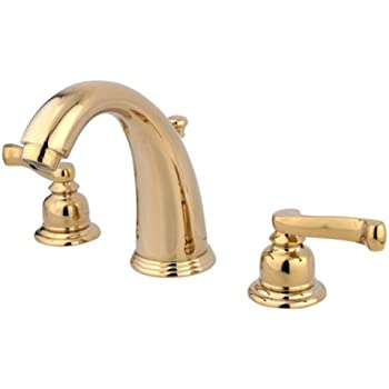 Kingston Brass KB982FL Royale Widespread Lavatory Faucet with Brass Pop-Up, Polished Brass