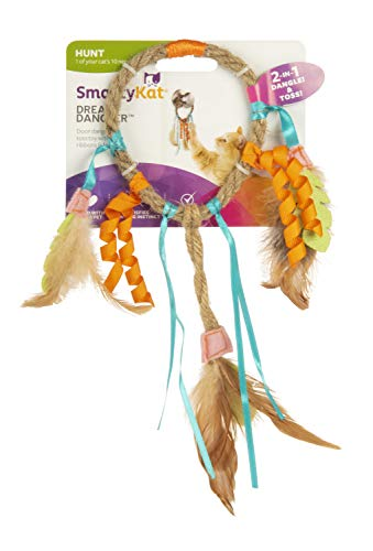(SmartyKat Dream Dangler Jute and Feather Cat Toy)