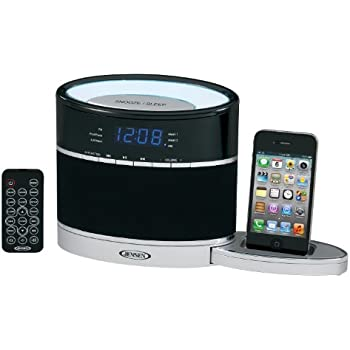 Jensen JiMS-185i iPod Docking Music System with FM Receiver, Auxiliary Input, Night Light and Slide-Out Dock