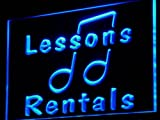 Music Lessons Rentals School LED Sign Neon Light Sign Display i831-b(c)