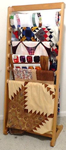 Working Quilt Rack by Retractable Design Wall