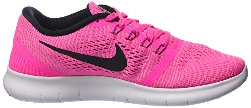 Nike Womens Free RN Running Shoes Pink Blast/Fire Pink/White/Black 5 B(M) US by Nike (Image #5)