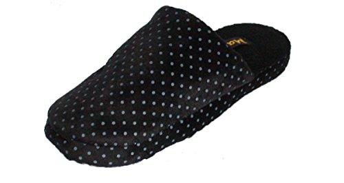 Lined Spot Black Coolers Mule Fleece Printed Womens Slippers wgxPq6BOp