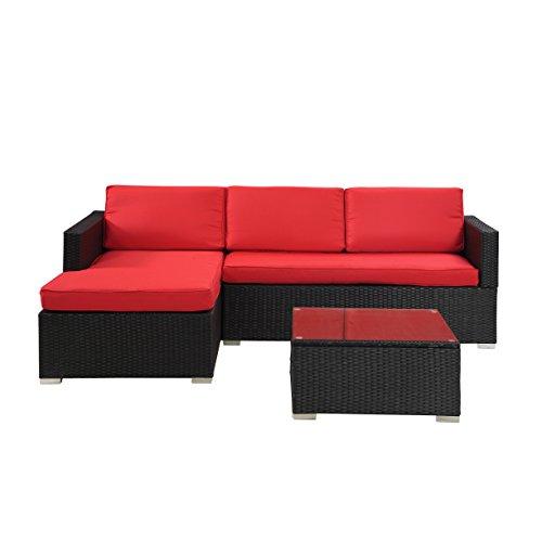 Buy Sectional Sofa In Dubai: Madison Home Modern Outdoor Garden Sectional Wicker Sofa