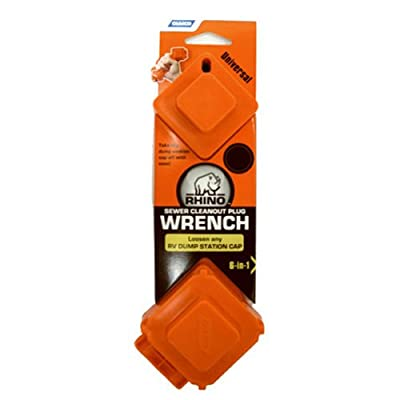 Camco 39755 RhinoFLEX 6-in-1 Sewer Cleanout Plug Wrench