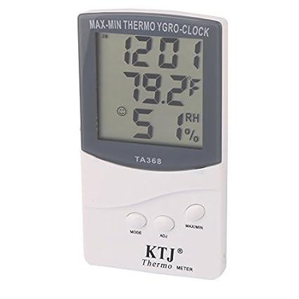 eDealMax TA368 cubierta al aire Libre LCD de pantalla Digital termómetro higrómetro