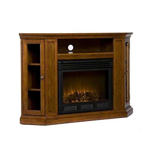 Mahogany-Finished Claremont Convertible Media Fireplace
