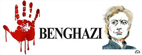Red Hand Butcher of Benghazi - Anti Hillary Political Bumper Sticker