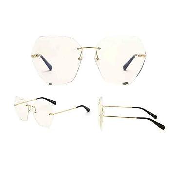 c8a9cb7f3f4818 Sunny Honey Damen Sonnenbrille Persönlichkeit Ohne Rahmen Cutting  Edge-Objektiv (Farbe : Transparent): Amazon.de: Garten
