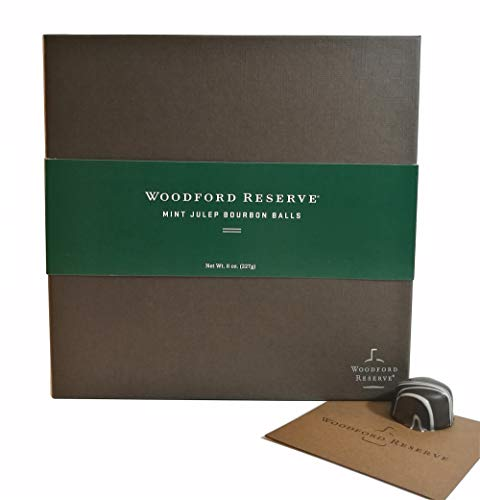 - Woodford Reserve Premium Mint Julep Bourbon Ball Gift Box, 16 Candies per box, delicious and perfect for holiday gifts
