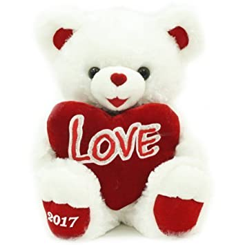 Sweetheart Teddy Ultra Plush Valentineu0027s Day Teddy Bear Gift 2017   White