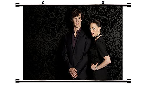 Sherlock TV Show Fabric Wall Scroll Poster (32x21) Inches