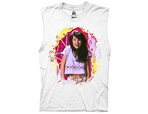 Ripple Junction Saved by The Bell Adult Unisex Kelly Scribbles Light Weight 100% Cotton Crew Muscle Tank Top XL -