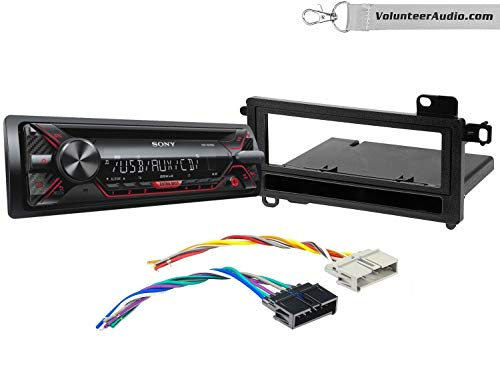 Sony CDX-G1200U Single Din Radio Install Kit With CD Player, USB/AUX, Built-In 16 Band Equalizer Fits 1987-2000 Dodge Dakota, 1995-1999 Dodge Neon
