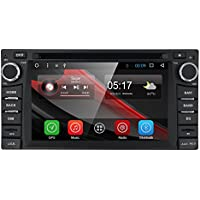 Wifi Model Double 2 Din Android 6.0 Quad-Core Car DVD Navigation Gps Stereo for Toyota RAV4 Camry Corolla 4Runner Hilux Car Support 3G Wifi Hotspots/ Bluetooth/Subwoofer/ Mirror Link/SD Card/USB/OBD2