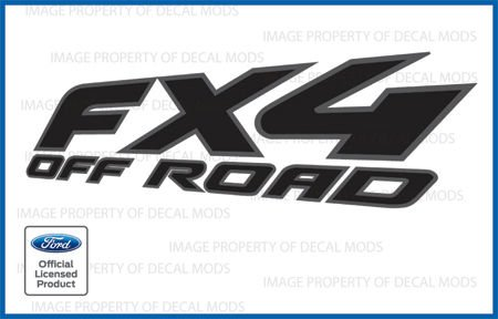 Ford F150 FX4 OffRoad Decals Truck Stickers BLACK Blackout - FBLK (1997 - 2008)